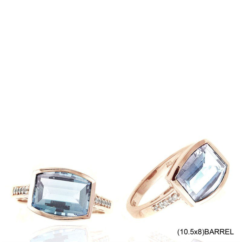 Murphy Pitard Signature Collection Aquamarine & Diamond Ring