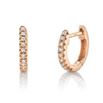 Kate Collection Diamond .04 Carats Huggie Earrings