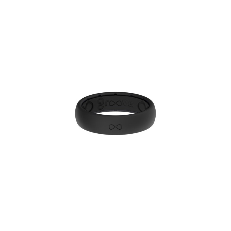 Groove Life Thin black silicone ring, size 8.