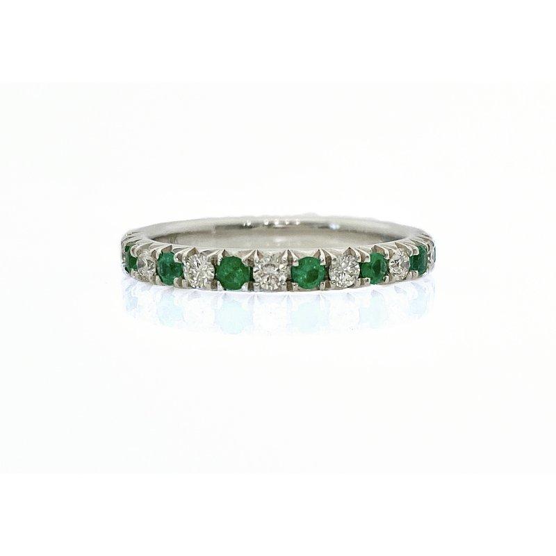 Murphy Pitard Signature Collection Emerald & Diamond Band