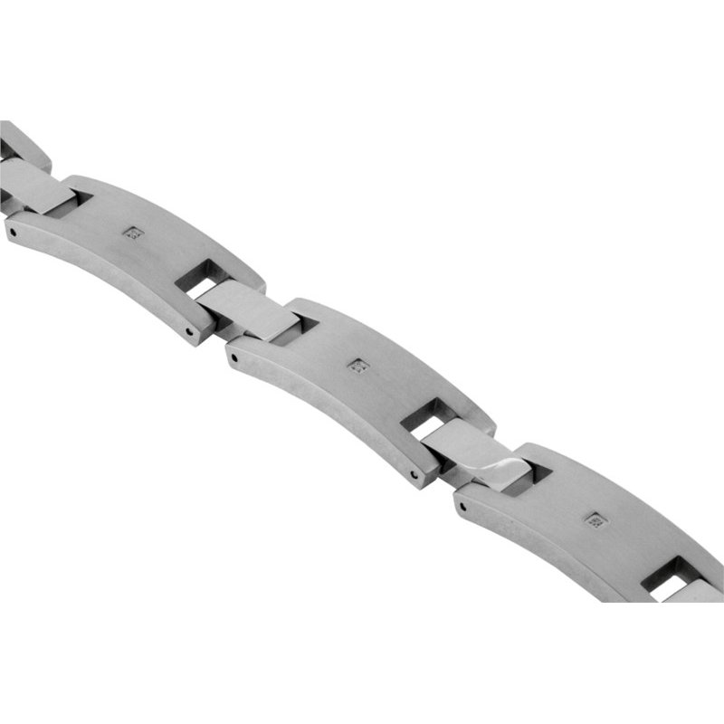 Murphy Pitard Signature Collection Satin Finish 12 Millimeter Stainless Bracelet