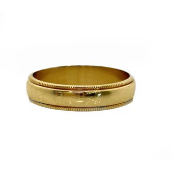 Gold 5 Millimeter Milgrain Wedding Band