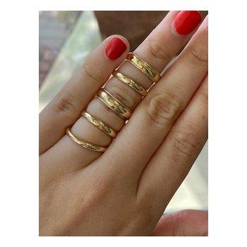 Gold 5 Millimeter Milgrain Wedding Band