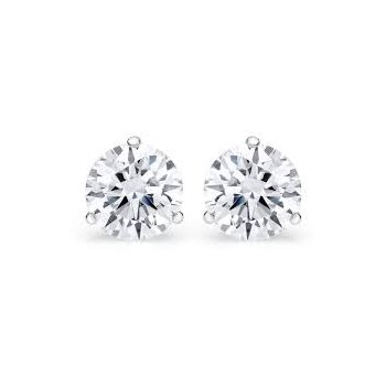 Martini Set 3/8 Carats Diamond Stud Earrings