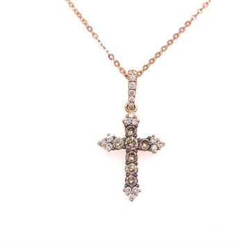 Diamond & Champagne Diamond Cross