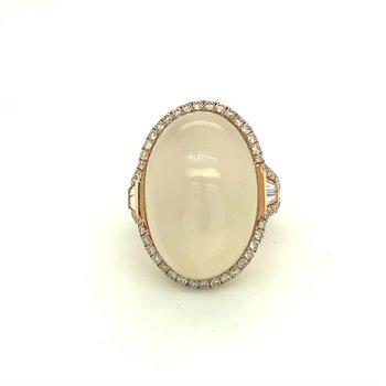 Moonstone Diamond Fashion Right Hand Ring