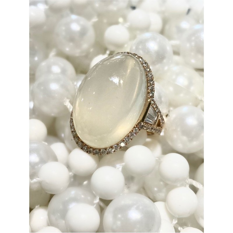 Murphy Pitard Signature Collection Moonstone Diamond Fashion Right Hand Ring
