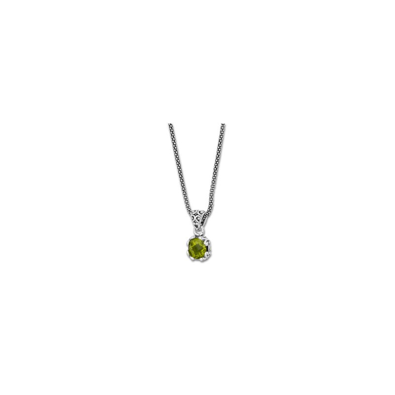 Samuel B. Peridot Drop Pendant Necklace