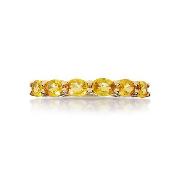Yellow Sapphire Stackable Band