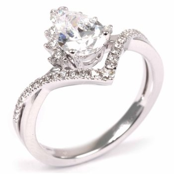 Tiara Pear Diamond Engagement Ring