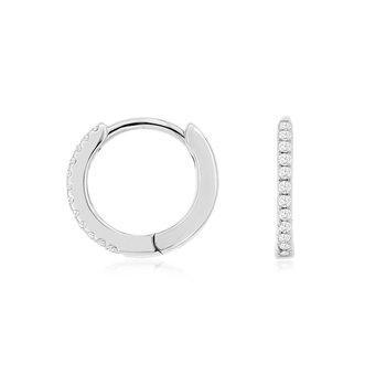 Diamond Petite Hoop Earrings