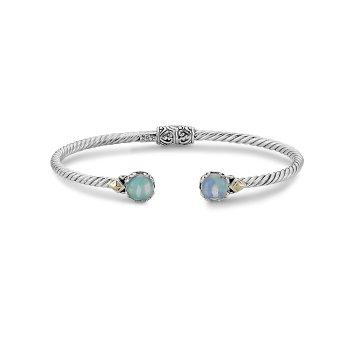 Opal Twisted Bangle Bracelet
