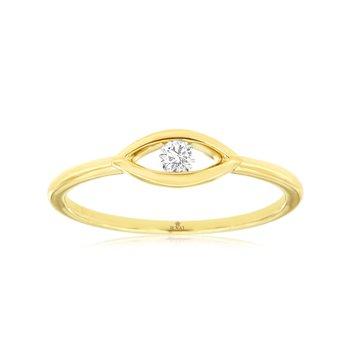 Diamond Evil Eye Fashion Ring
