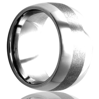 Men's 8 millimeter Tungsten Wedding Band, Size 10