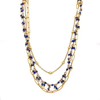 Lapis Triple Layer Chain