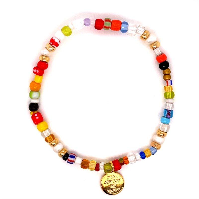 Dee Berkley Rainbow Beaded Stretch Bracelet
