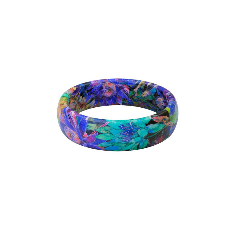 Groove Life Thin Aspire Twilight Blossom Silicone Ring - Size 8
