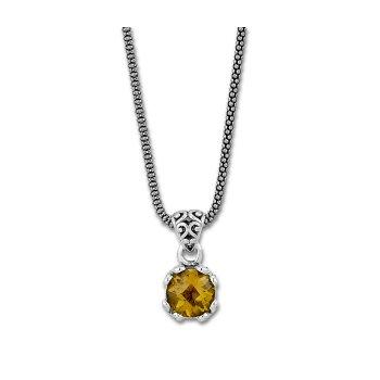 Citrine Drop Pendant Necklace