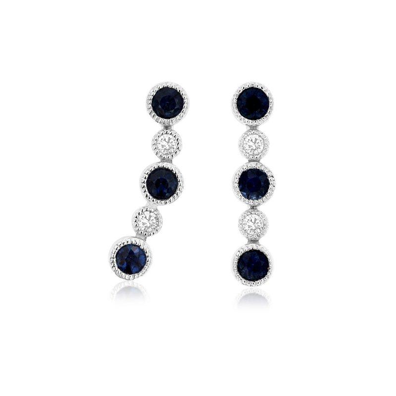 Murphy Pitard Signature Collection Diamond & Sapphire Dangle Earrings