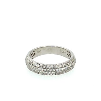 Wide Pavé Diamond Band