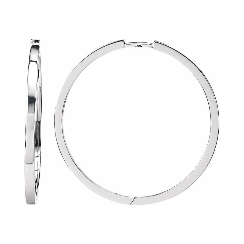 Murphy Pitard Signature Collection Large 32.8 Millimeter Hoop Earrings
