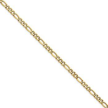 Figaro 6.3 Millimeter Gold Plated Bracelet
