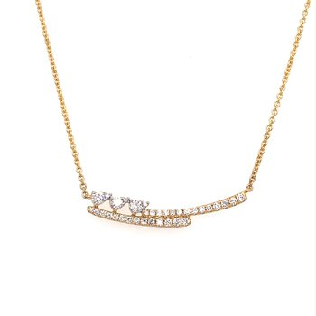 Diamond Fashion Bar Necklace