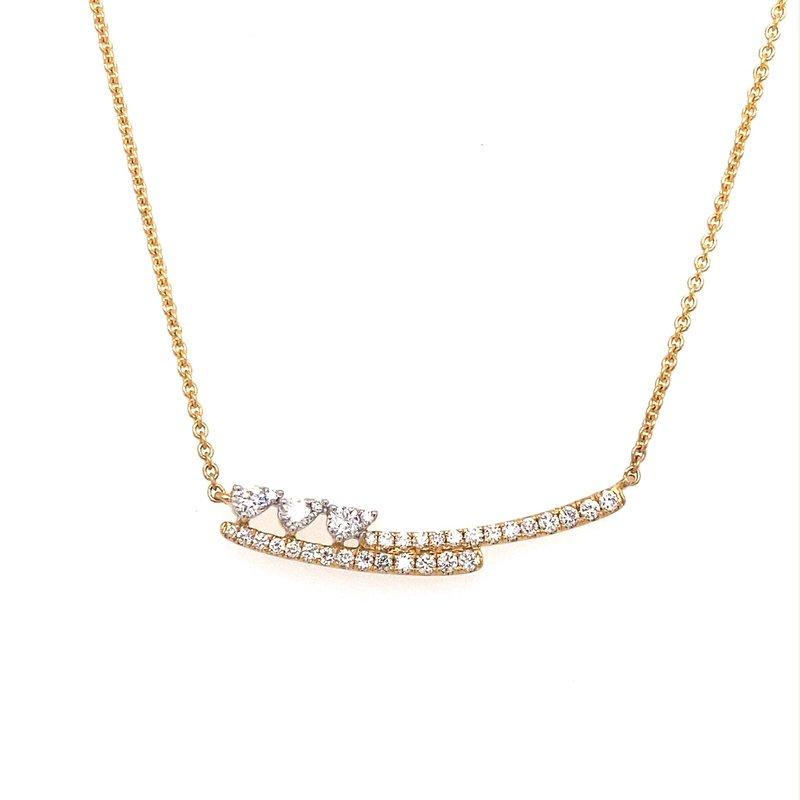 Murphy Pitard Signature Collection Diamond Fashion Bar Necklace