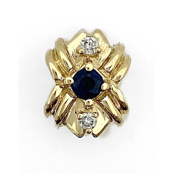 Sapphire & Diamond Traditional Slide