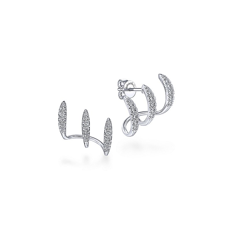 Gabriel & Co. New York Diamond Stack Stud Earrings