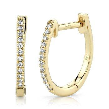 Diamond Medium Huggie Earrings
