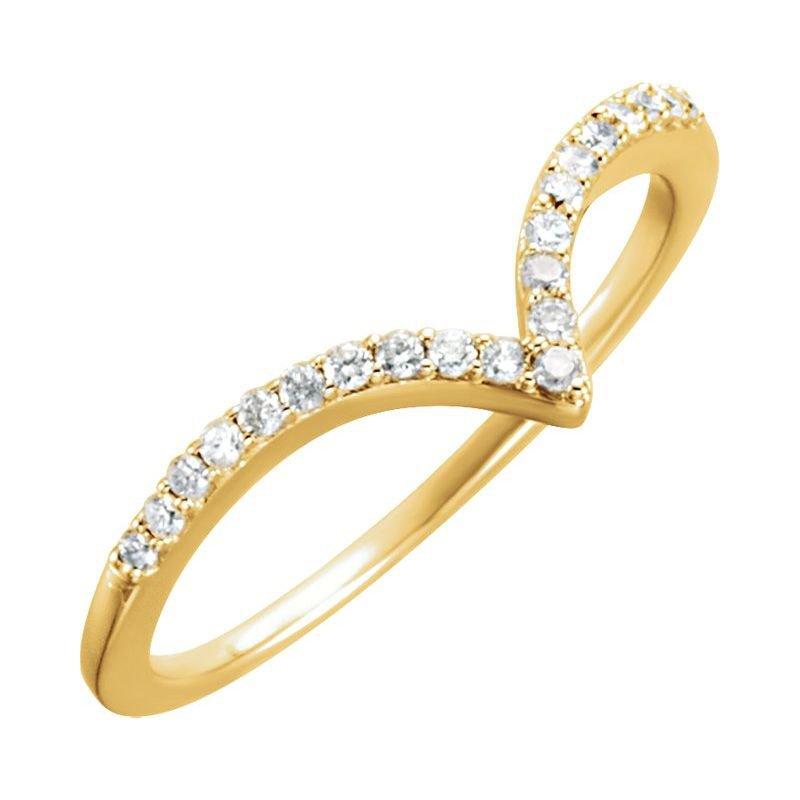 Murphy Pitard Signature Collection Diamond V Contoured Wedding Band