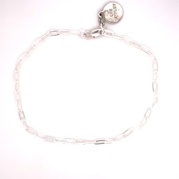 Extra Small Sterling Silver Paperclip Bracelet