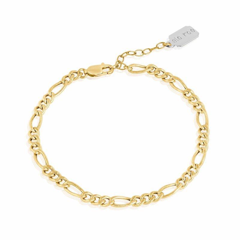 ela rae new york city Flat Figaro Chain Bracelet