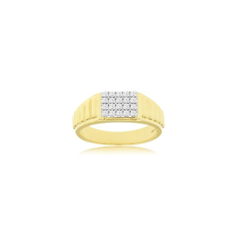 Murphy Pitard Signature Collection Diamond Rectangle Top Cluster Polished Ring