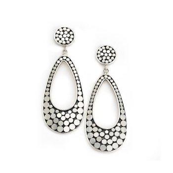 Dot Open Drop Earrings