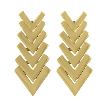 Chevron Gold Stack Earrings