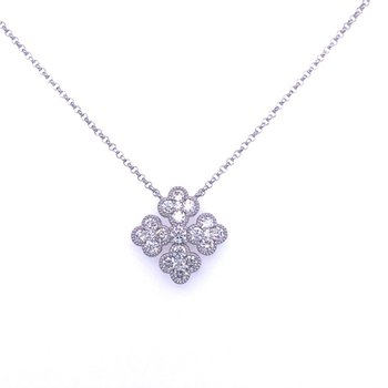 Diamond Four Way Cross Necklace