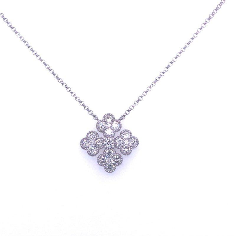 Murphy Pitard Signature Collection Diamond Four Way Cross Necklace