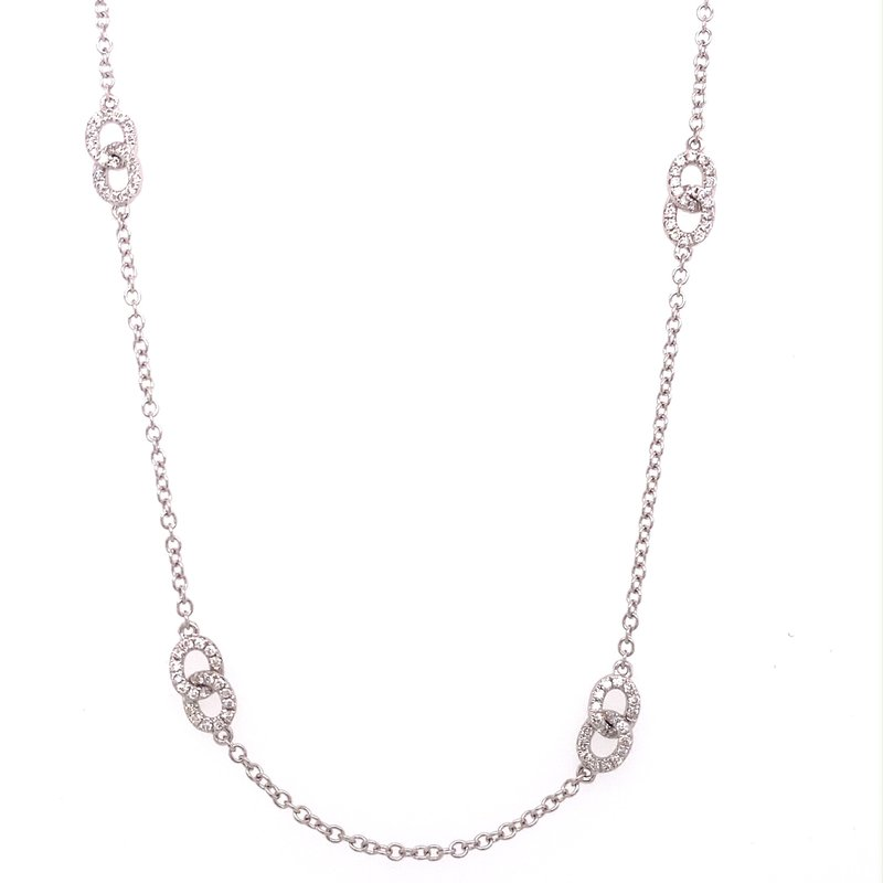 Murphy Pitard Signature Collection Diamond Link Fashion Necklace