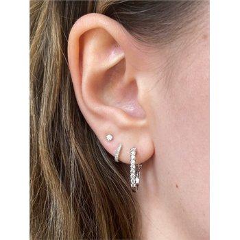 Diamond 1/2 Carats Small Hoop Earrings
