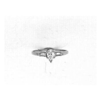 Vintage Inspired Three Stone Engagement Ring