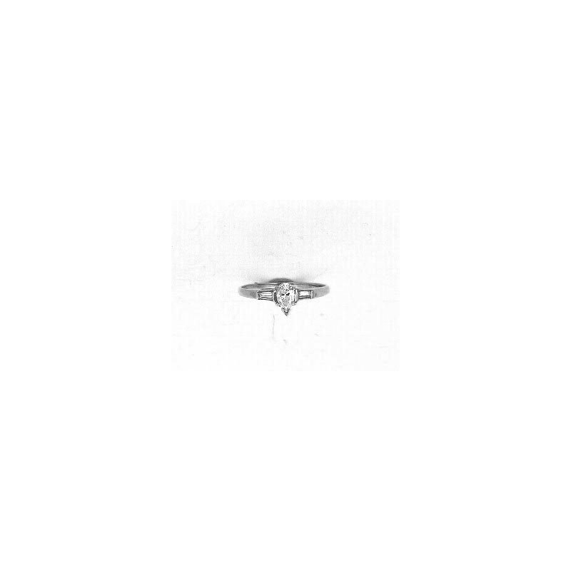 Murphy Pitard Signature Collection Vintage Inspired Three Stone Engagement Ring