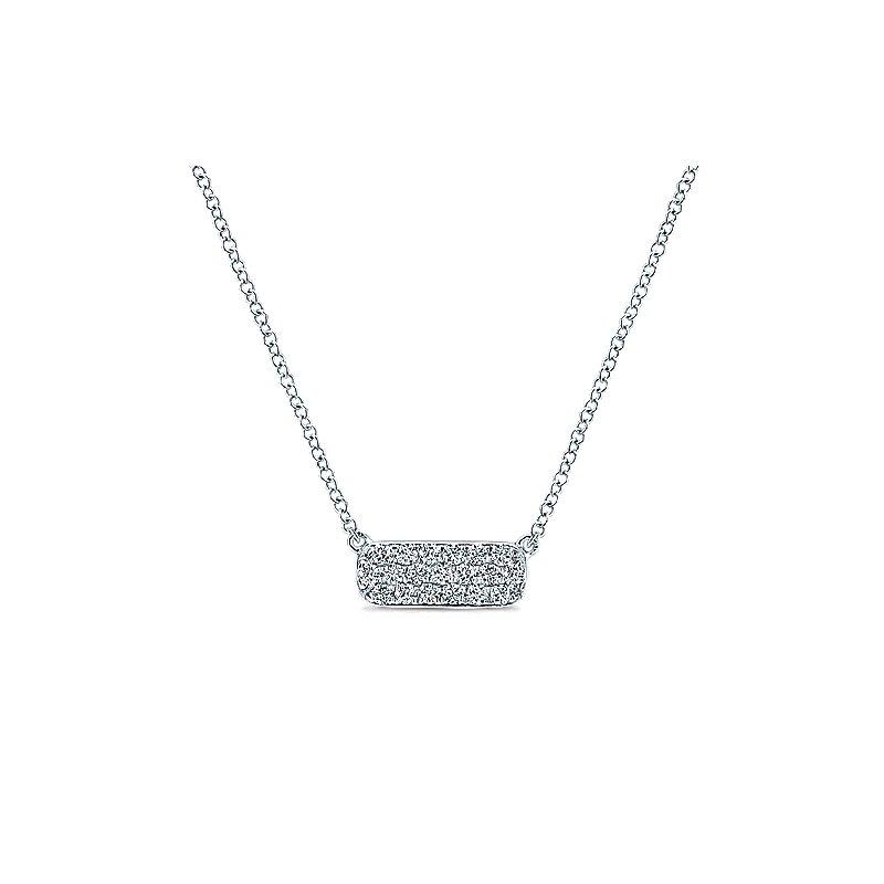 Gabriel & Co. New York Pavé Diamond Bar Necklace