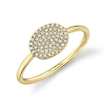 Diamond Pavé Disc Ring