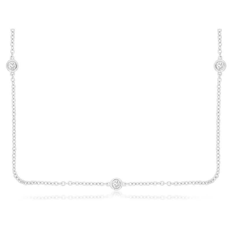 Murphy Pitard Signature Collection Diamond By The Yard Station Necklace