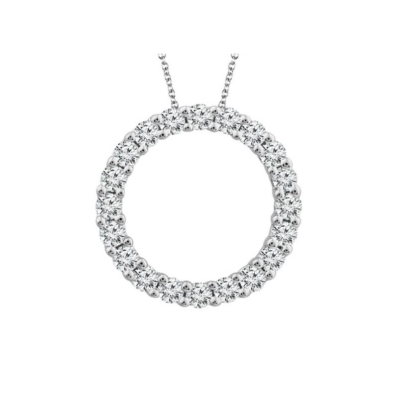 Murphy Pitard Signature Collection Diamond 1/4 Carats Circle Pendant Necklace