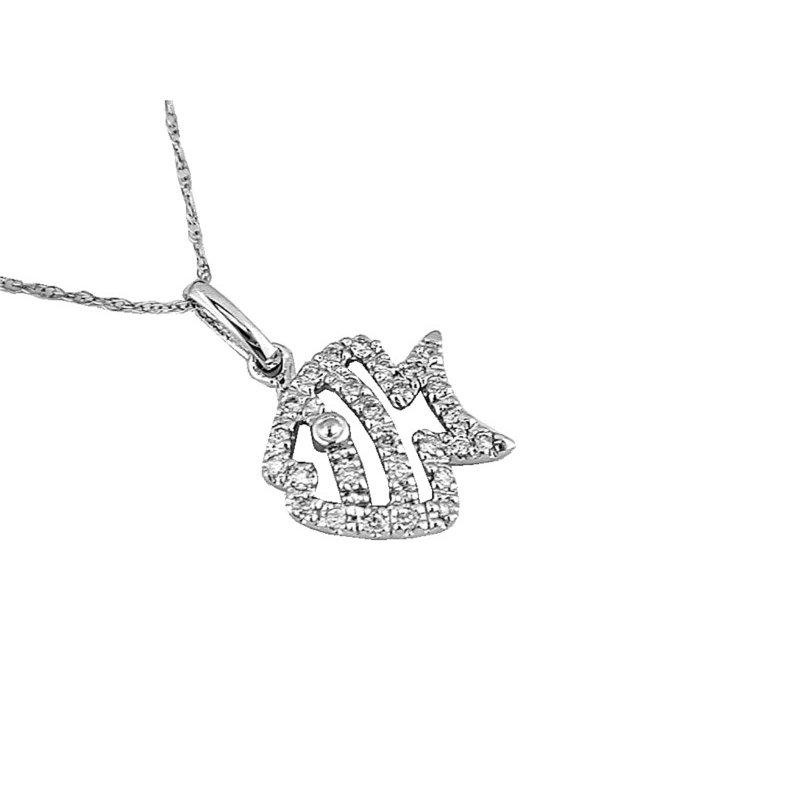 Murphy Pitard Signature Collection Diamond Tropical Fish Pendant Necklace