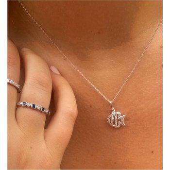 Diamond Tropical Fish Pendant Necklace