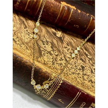 Diamond By The Yard Station Necklace - 1.18  Carats